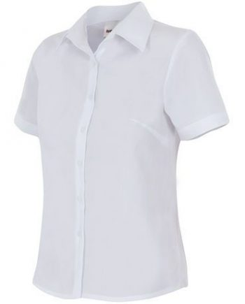 camisa mujer entallada manga corta